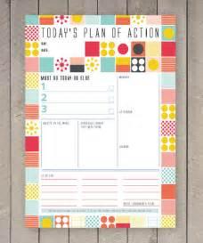 Post It Desk Organiser Printable Day Planner Family Organiser Mid Century Colourful