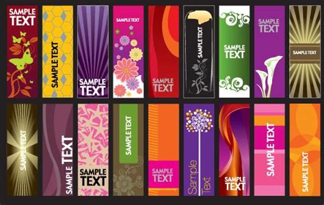 Card Banner Template by 30 Vector Vertical Banner Templates Background Card
