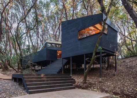 california tent cabins forest house by envelope a d