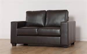 mission brown leather 2 seater sofa only 163 299 99