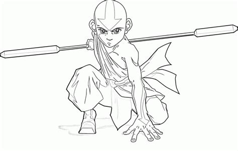 avatar the last airbender aang coloring page aang coloring