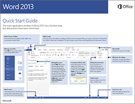 start guide template word 2013 start guide word