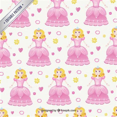 pattern princess vector princess pattern vector free download