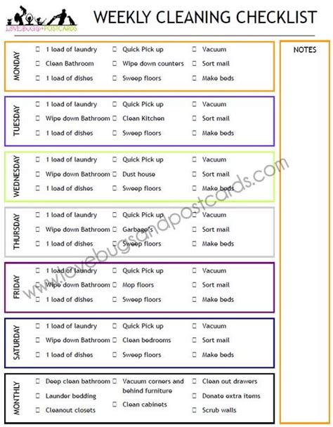 printable house cleaning checklist pdf weekly cleaning checklist printable cleanses weekly