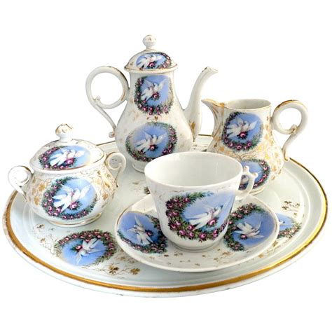Classic Lovely Tea Sets by Porcelain Tea Set Birds Roses Carlsbad