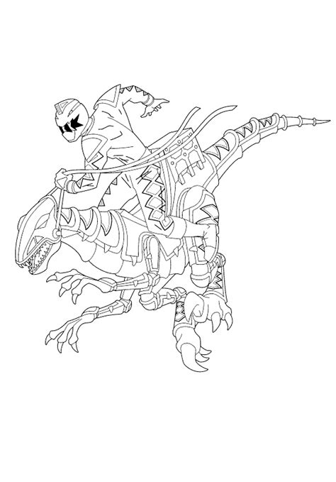 power rangers dino thunder printable coloring pages power rangers dino thunder riding his horse with his