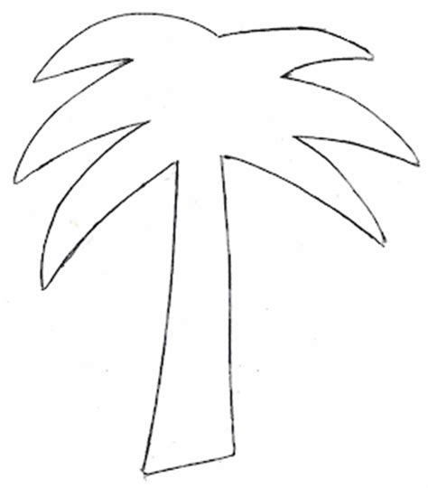 Palm Tree Leaves Outline by Palm Tree Printable Template Clipart Best