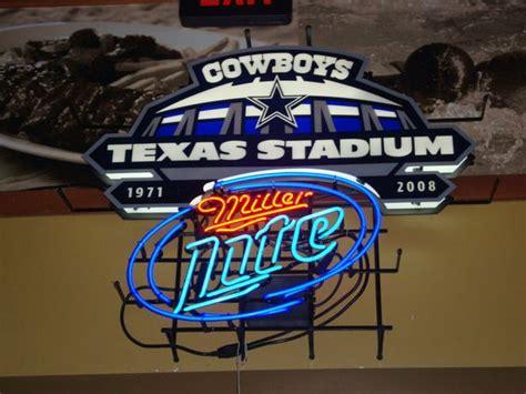 miller light neon sign beer sign miller lite dallas cowboys football
