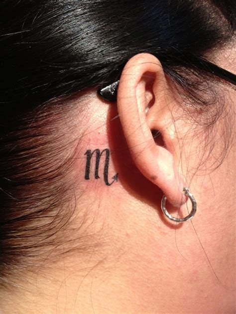 small ear tattoo small zodiac sign on back of ear tattooshunt