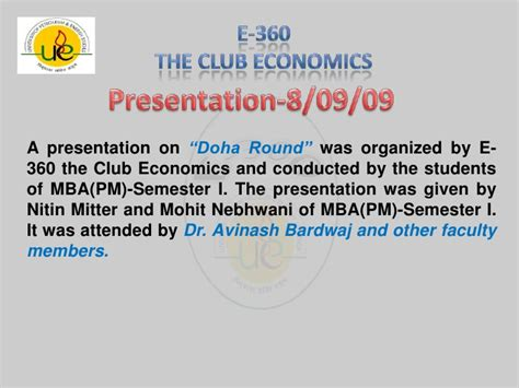 Economist Mba Competition by About E 360 The Club Economics