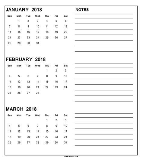 3 month calendar template 2018 printable 3 month calendar 2018 calendar 2018