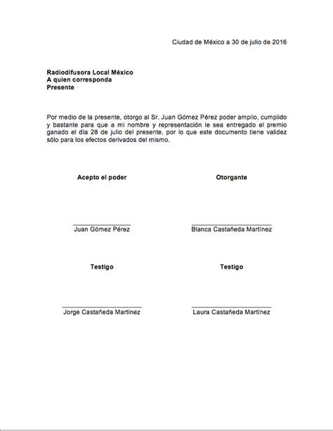 carta poder ejemplo en mexico formato carta poder en word pictures to pin on pinsdaddy