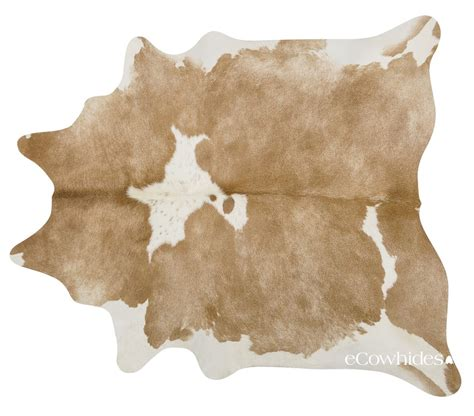 White Cowhide Rug - palomino and white cowhide large