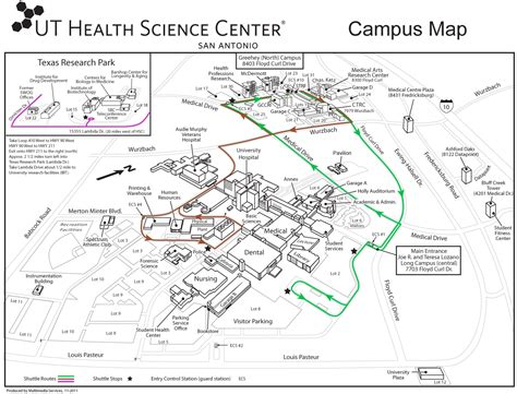 texas center map research facilities graduate school of biomedical sciences uthscsa