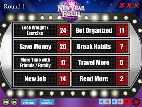 New Year S Eve Party Family Feud Trivia Powerpoint Game Mac And Pc Compatible Youth How To Make Family Feud On Powerpoint