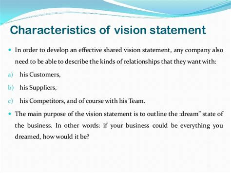 vision statement templates vision statement exles for business yahoo image