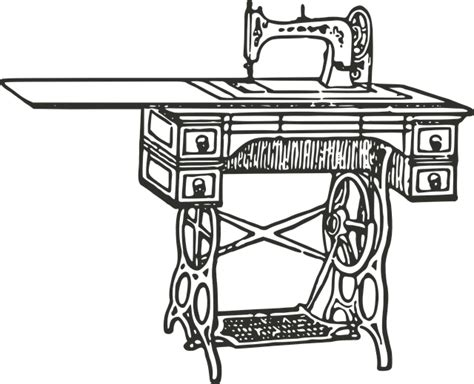 Mesin Graphic free vector graphic sewing machine antique sewing