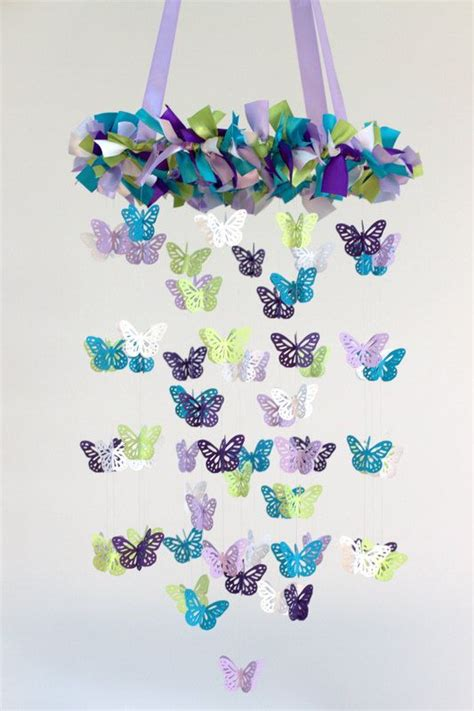 How To Make A Paper Butterfly Mobile - 25 best ideas about butterfly mobile on diy