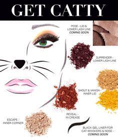 Cat Sigma Paint makeup on skeleton makeup cat