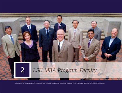 Lsus Mba Leadership by Time Master Of Business Administration Program At