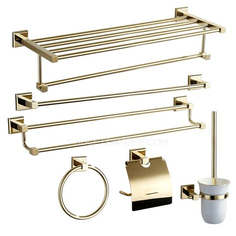 Modern Brass Bathroom Accessories Modern Brass 6 Bathroom Accessory Sets