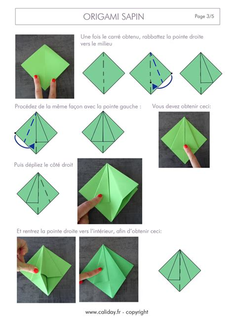 Origami Page - origami sapin de noel facile obasinc
