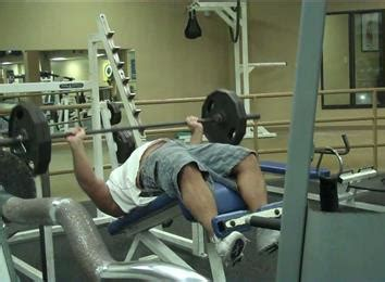 most ever bench pressed most decline bench press reps with a 225 pound barbell in