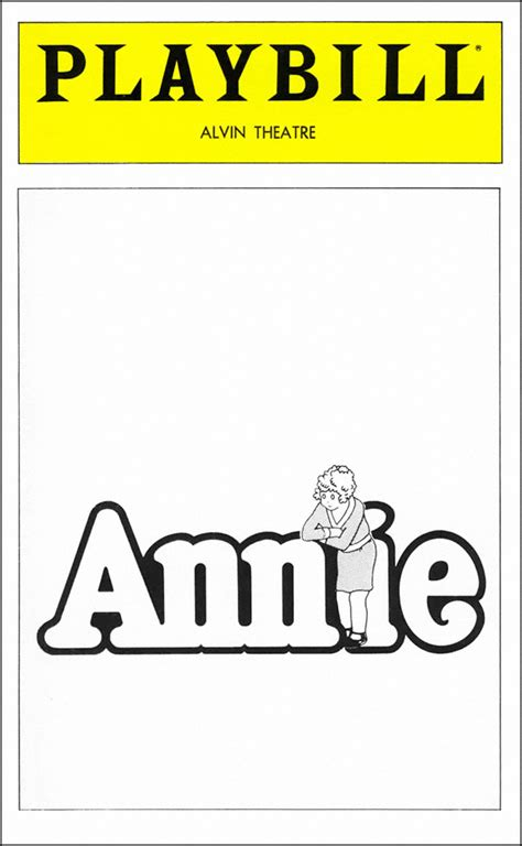 Annie Broadway Alvin Theatre Tickets And Discounts Playbill Playbill Template
