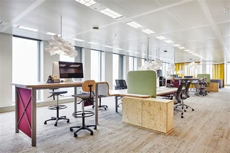 modern office design in amsterdam features laid back work