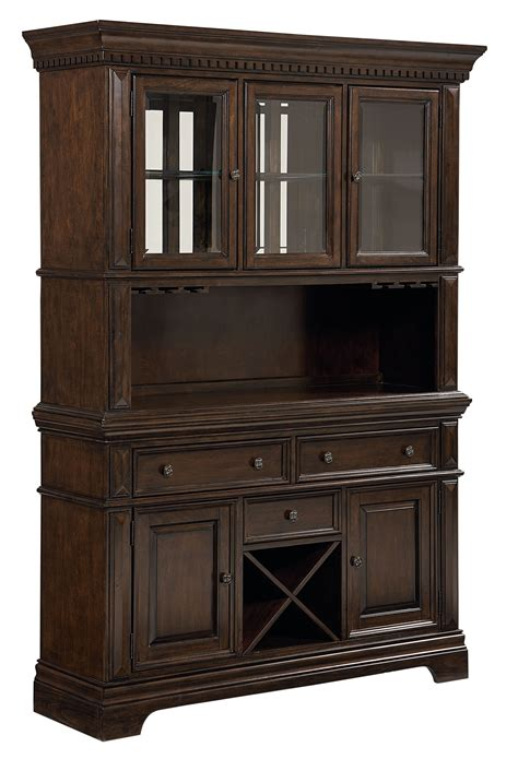Charleston Tobacco Brown Buffet With Hutch From Standard Buffet With Hutch