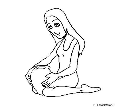 imagenes para dibujar mujeres dibujo de mujer y jarr 243 n para colorear dibujos net