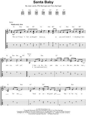 Santa Baby Guitar Chords