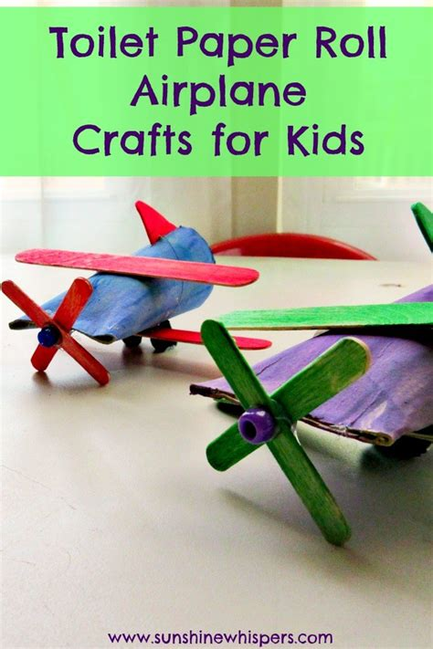 How To Make Sticks With Toilet Paper Rolls - toilet paper roll airplane crafts for