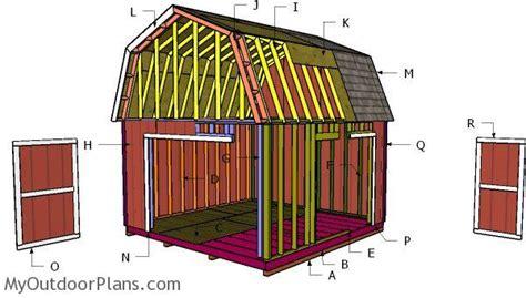 gambrel shed roof  diy plans myoutdoorplans