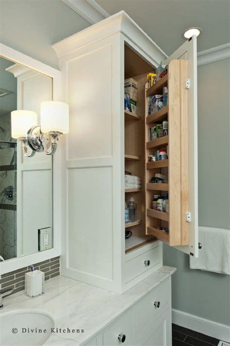 1000 ideas about small bathroom cabinets on