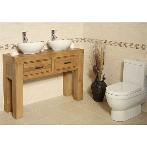 Free Standing Vanity Units Bathroom Milan Oak Free Standing Bathroom Vanity Unit Click Oak