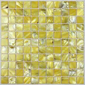 painted colorful shell tile yellow of pearl tile
