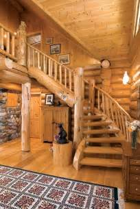 Log Home Stairs by Photos Of An Old Fashioned Log Home