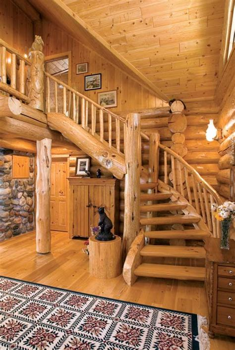 Log Cabin Stairs by Photos Of An Fashioned Log Home