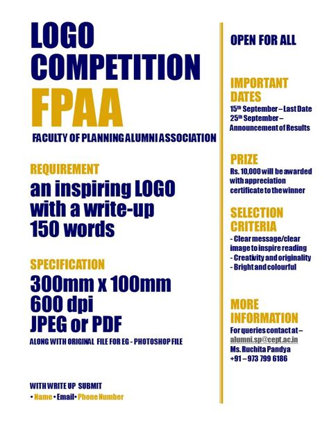 Design Logo Competition 2017 | logo design competition by fpaa news cept