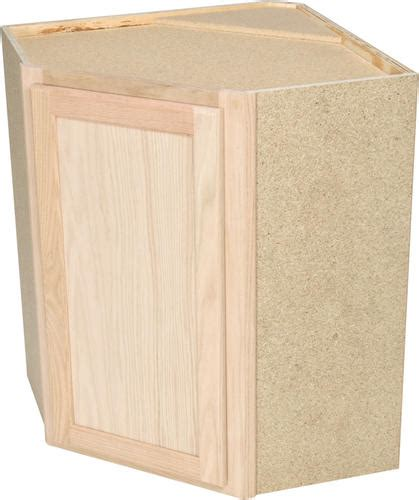 menards bathroom wall cabinets quality one 24 quot x 30 quot unfinished oak diagonal corner wall cabinet at menards 174