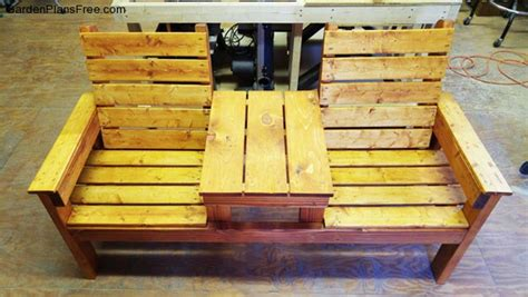 Build A Recliner by Diy Chair Bench With Table Free Garden Plans