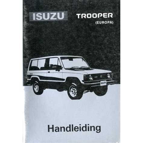 service manual 2000 isuzu trooper repair manual free service manual 2000 isuzu rodeo free