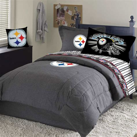 steelers bedroom set pittsburgh steelers team denim queen size comforter