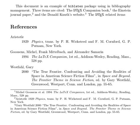 Sle Of Research Paper With Footnotes And Bibliography by Biblatex Different Styles In Footnote And Bibliography Tex Stack Exchange