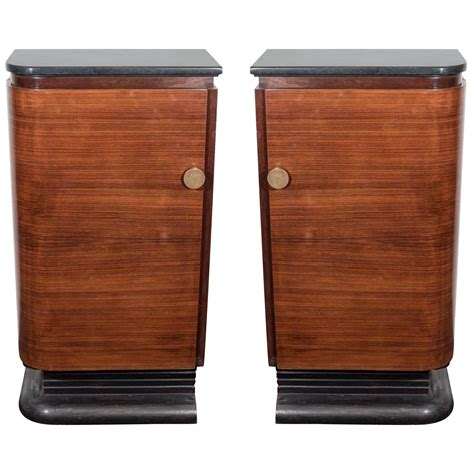 Wood Bar Tops For Sale Pair Of Deco Era Wood Bar Cabinets With Green Marble