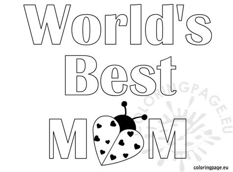 world s best mom coloring page