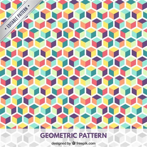 pattern cube vector colored cubes pattern vector free download