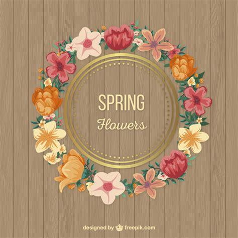 fiori di con telaio fiori di primavera telaio scaricare vettori gratis
