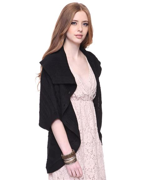 oversized cable knit cardigan forever 21 oversized cable knit cardigan in black lyst